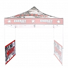 Casita Canopy 10' x 10' UV - Half-Sidewall - Double-Sided Printed Graphic ONLY