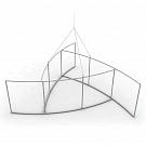 """Skybox Pinwheel 10' x 36"""" Hanging Banner - Frame"""