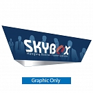 "Skybox Tapered Triangle 15' x 60"" Hanging Banner - Printed Outside Graphic"