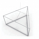 """Skybox Triangle 12' x 32"""" Triangle Hanging Banner - Frame Only"""