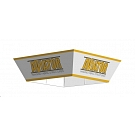 """Aviator Hanging Fabric Structure - Tapered Square 10' x 42"""""""