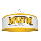 Aviator Hanging Fabric Structure - Circle 10 x 42