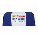 """36"""" Full Size Dye Sublimated Table Runner"""