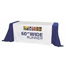 """60"""" Full Size Dye Sublimated Table Runner"""