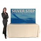 """Silver Step 60""""W Table Top Retractable Banner Stand"""