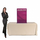 """Silver Step 24""""W Table Top Retractable Banner Stand"""