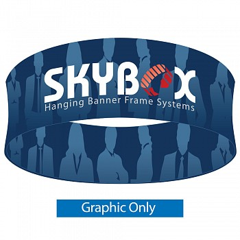 "Skybox Round 10' x 48"" Hanging Banner - Printed Inside & Outside Graphics"