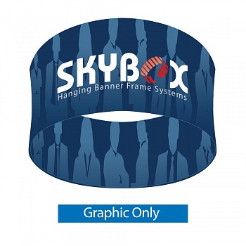"Skybox Round 12' x 60"" Hanging Banner - Printed Inside & Outside Graphics"