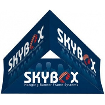 "Skybox Triangle 10' x 48"" Hanging Banner"