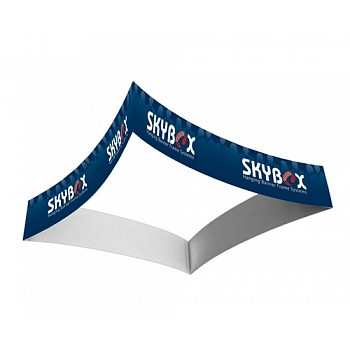 """Skybox Curved Square 12' x 60"""" Hanging Banner"""