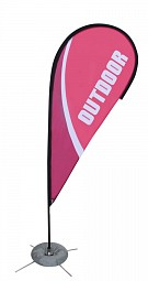 Zoom 3 Teardrop Flag - Double Sided Graphic