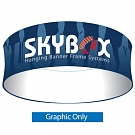"Skybox Round 10' x 72"" Hanging Banner - Printed Outside Graphic"