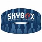 "Skybox Round 5' x 32"" Hanging Banner"