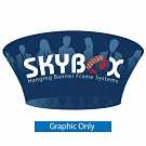 "Skybox Tapered Circle 12' x 42"" Hanging Banner - Printed Inside & Outside Graphic"