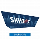 "Skybox Tapered Triangle 16' x 60"" Hanging Banner - Printed Inside & Outside Graphic"