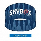 """Skybox Round 8' x 42"""" Hanging Banner - Printed Inside & Outside Graphics"""