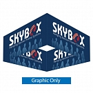 "Skybox Square 10' x 60"" Hanging Banner - Printed Inside & Outside Graphic"