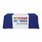"36"" Full Size Dye Sublimated Table Runner"