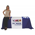 "30"" Full Size Dye Sublimated Table Runner"