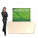 "Silver Step 48""W Table Top Retractable Banner Stand"