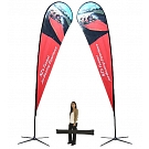 Extra Large Tear Drop Flag - Double Sided