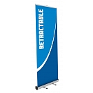 "Mosquito 31.5""W Retractable Banner Stand - Vinyl Graphic"