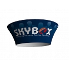 "Skybox Tapered Circle 10' x 42"" Hanging Banner"