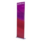 "Silver Step 24""W Retractable Banner Stand"