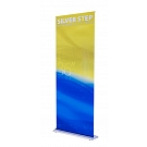 "Silver Step 36""W Retractable Banner Stand"