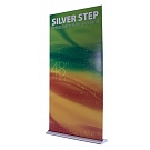 "Silver Step 48""W Retractable Banner Stand"