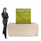 "Silver Step 36""W Table Top Retractable Banner Stand"